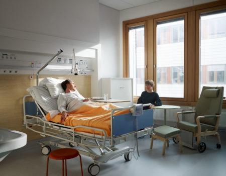 Patientrum - enkelrum med anhörigbädd