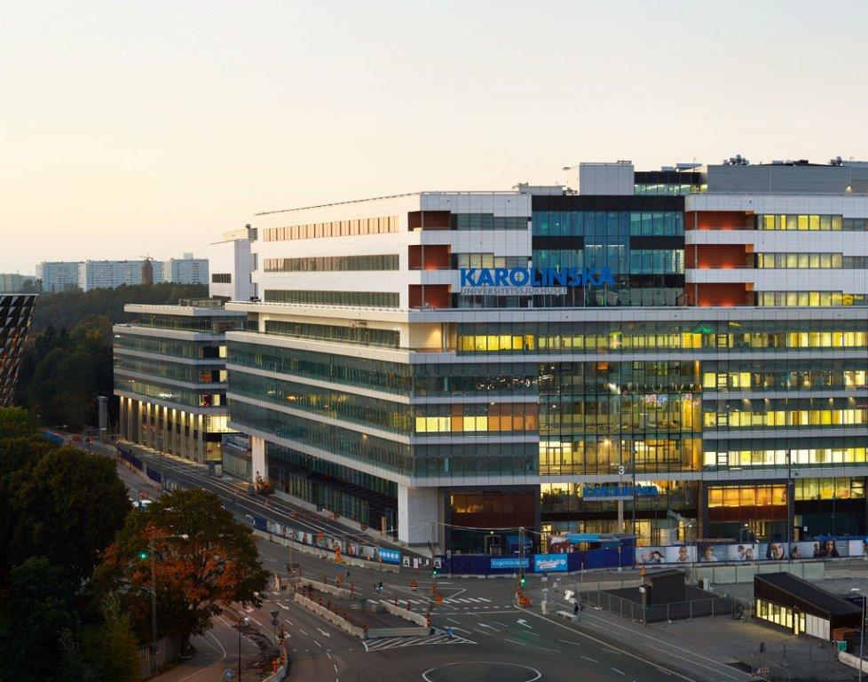 Facade of Karolinska University Hospital Solna