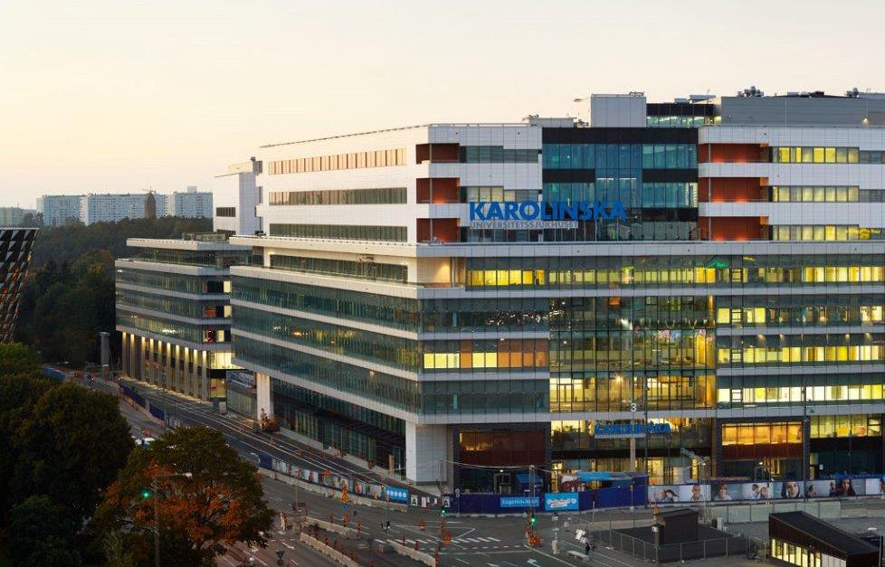 Fasadbild på Nya Karolinska Sjukhuset